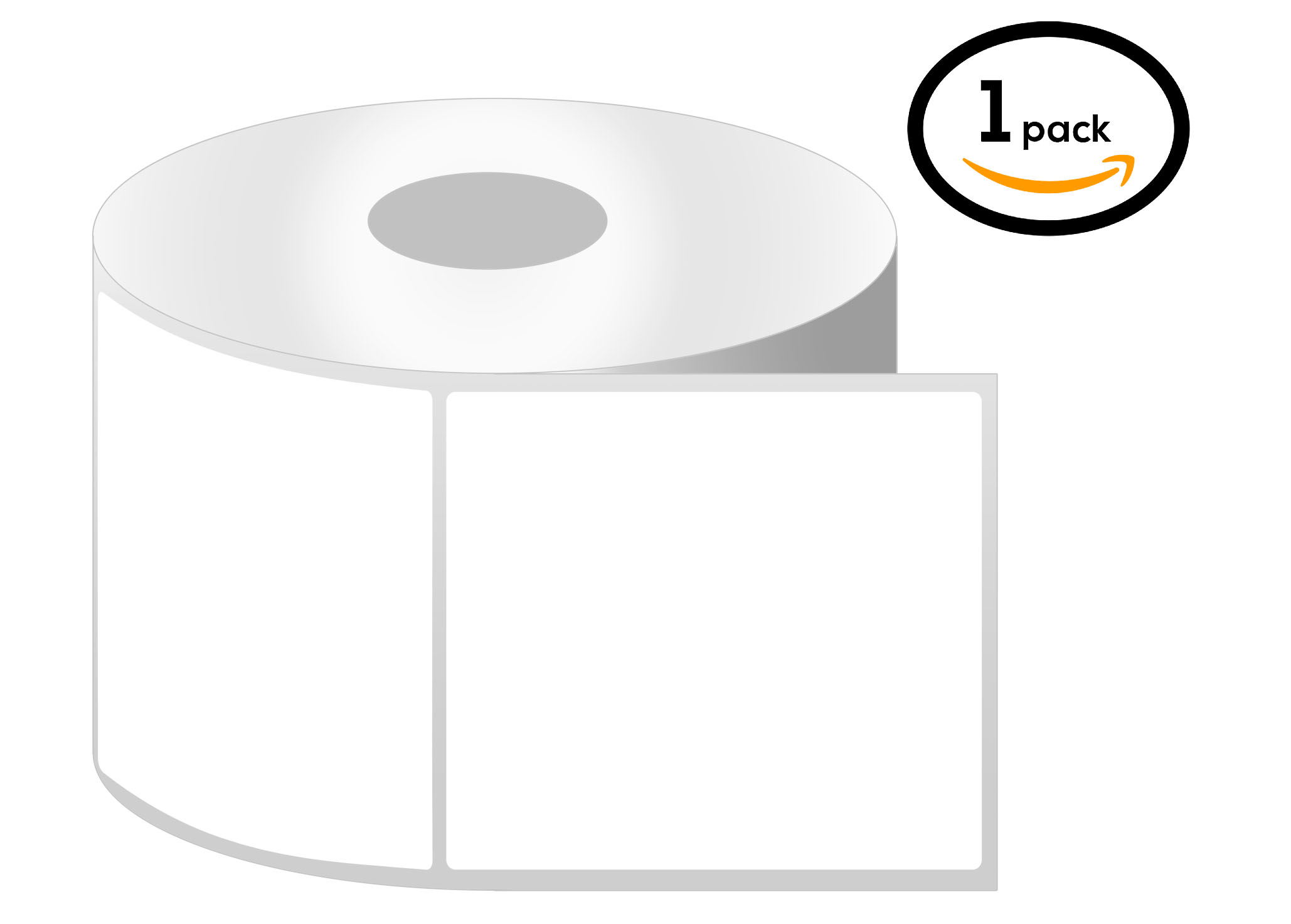 1 Inch Core - 4 x 4 Zebra Compatible Direct Thermal Labels 1 Roll