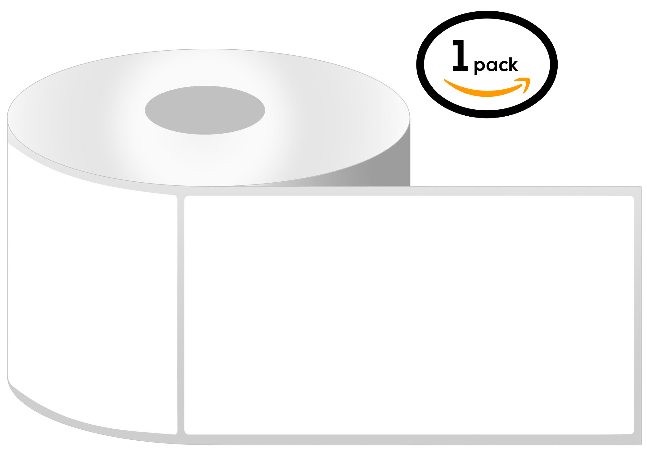 1 Inch Core - 4 x 6 Zebra Compatible Direct Thermal Labels 1 Roll