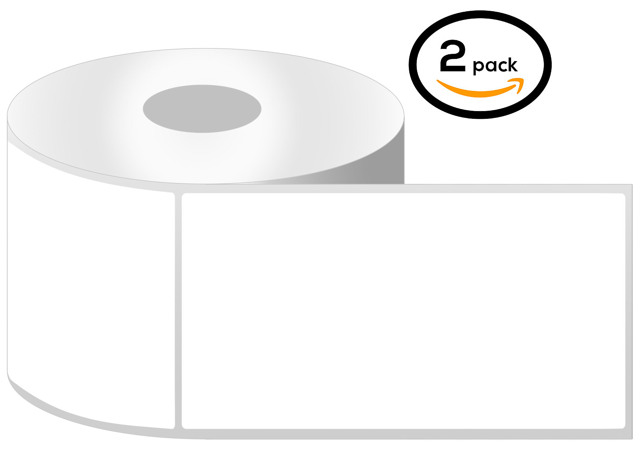 1 Inch Core - 4 x 6.5 Zebra Compatible Direct Thermal Labels 1 Roll