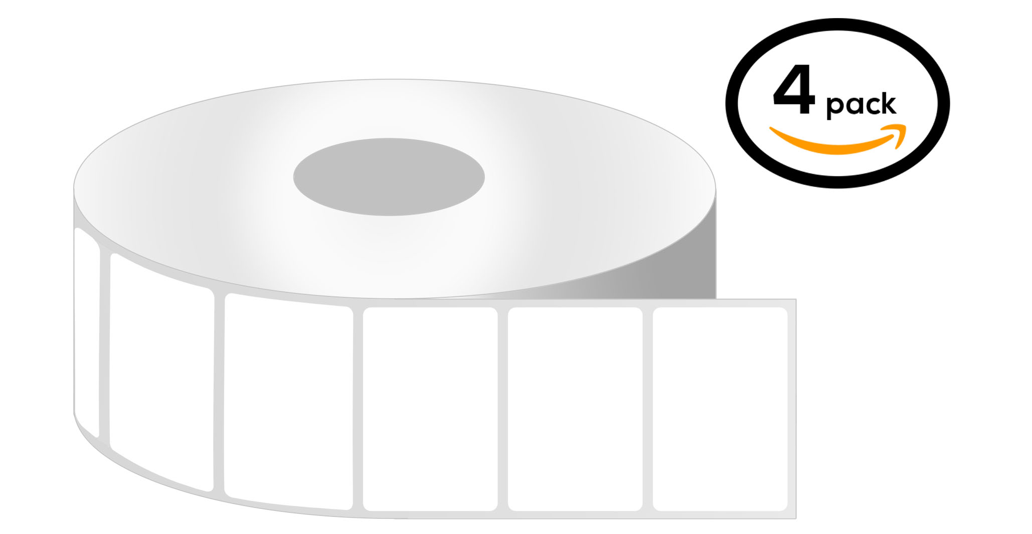 3 Inch Core - 2 x 1 Zebra Compatible Direct Thermal Labels 1 Roll