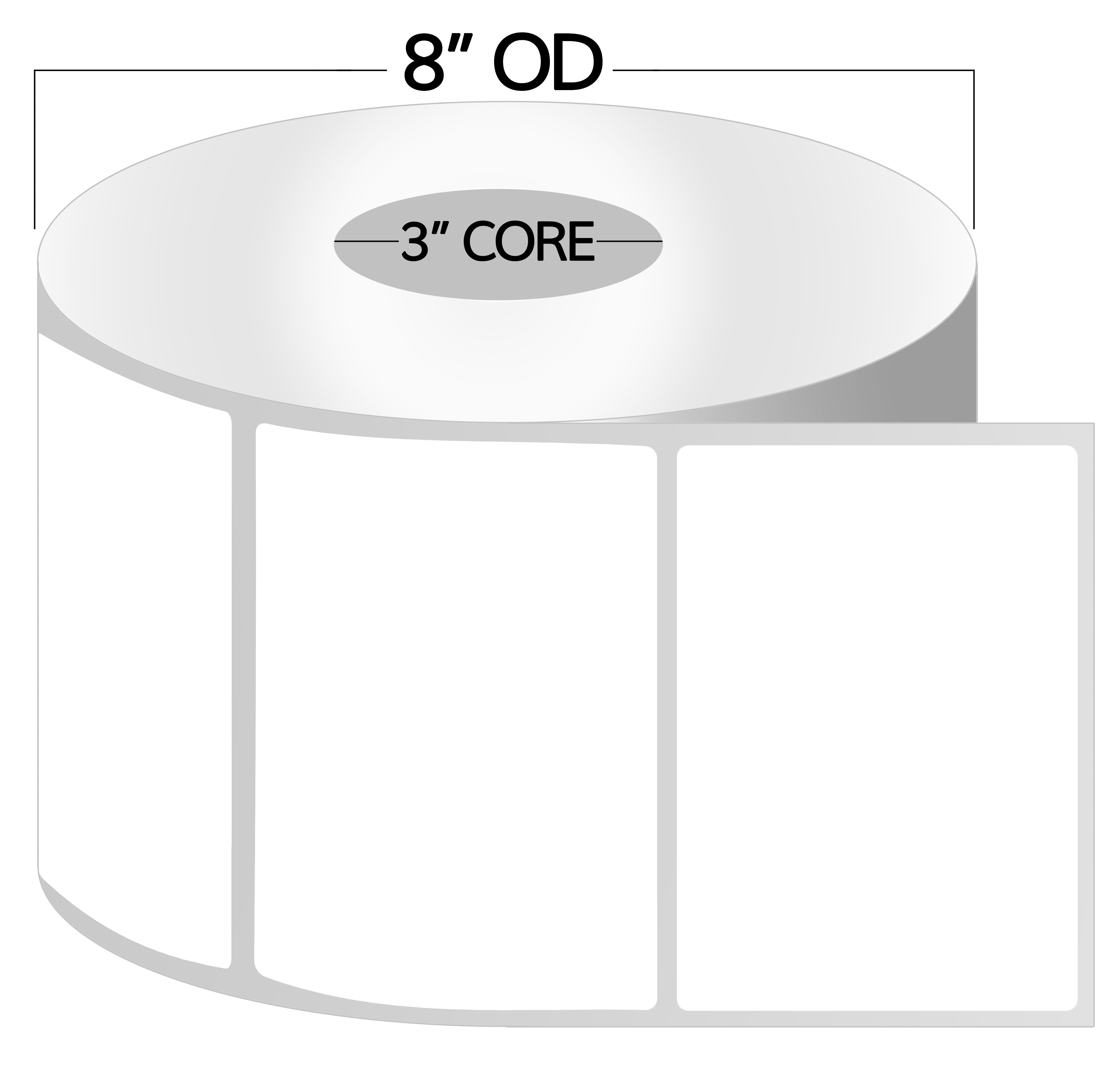 3 Inch Core - 2 x 1.5 Zebra Compatible Direct Thermal Labels 1 Roll