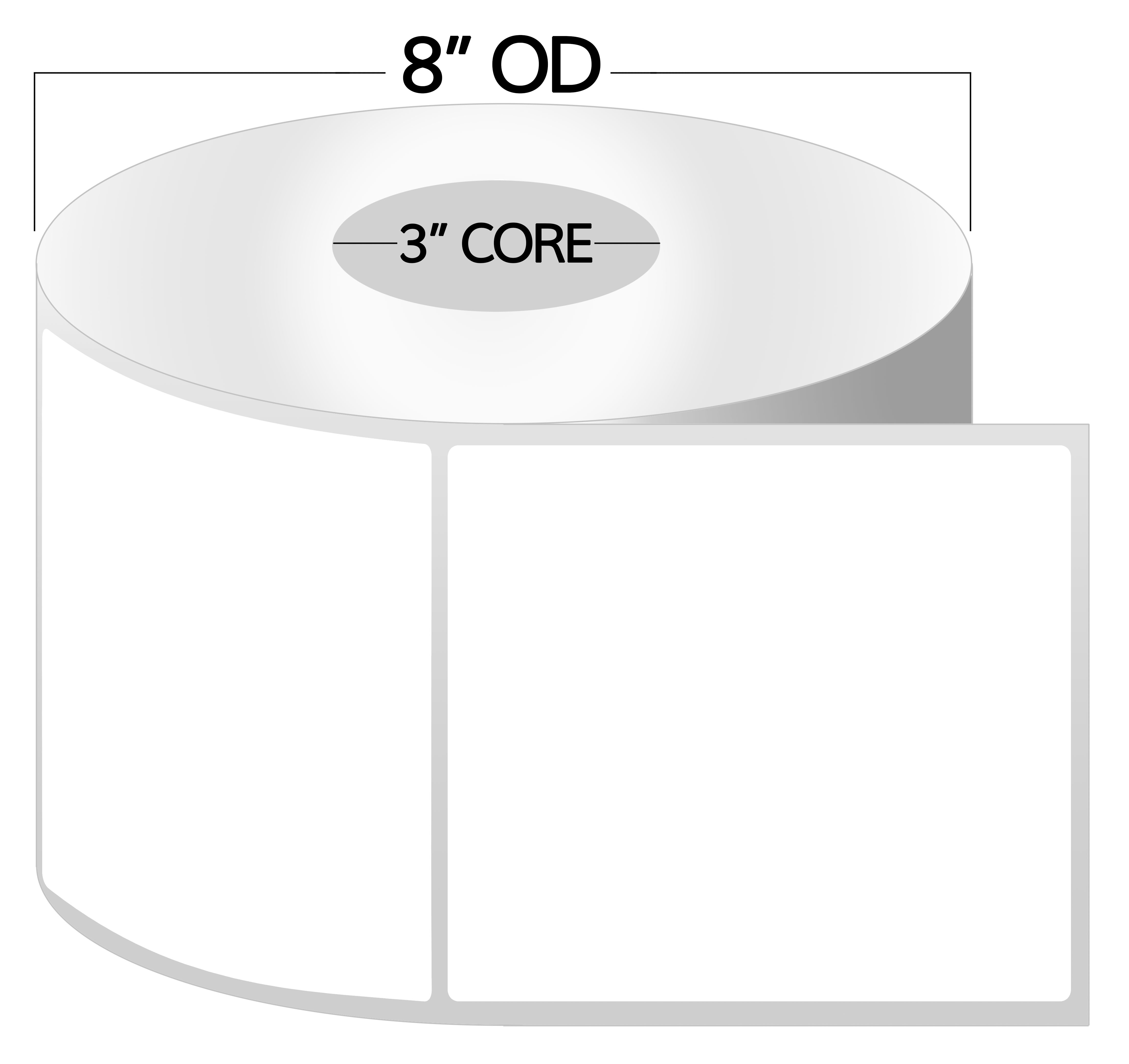 3 inch core 3 x 3 zebra compatible direct thermal labels 1 roll