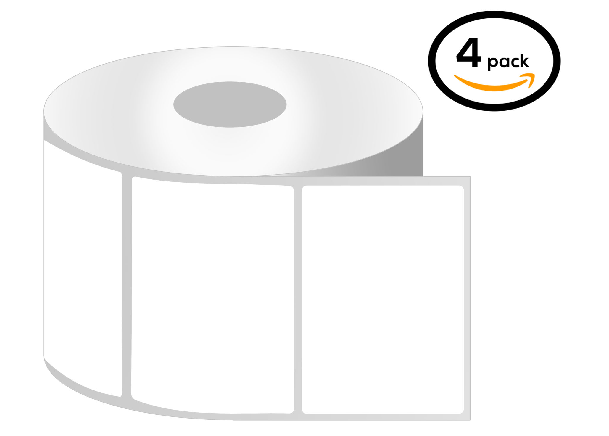 3 Inch Core - 4 x 2.5 Zebra Compatible Direct Thermal Labels 1 Roll