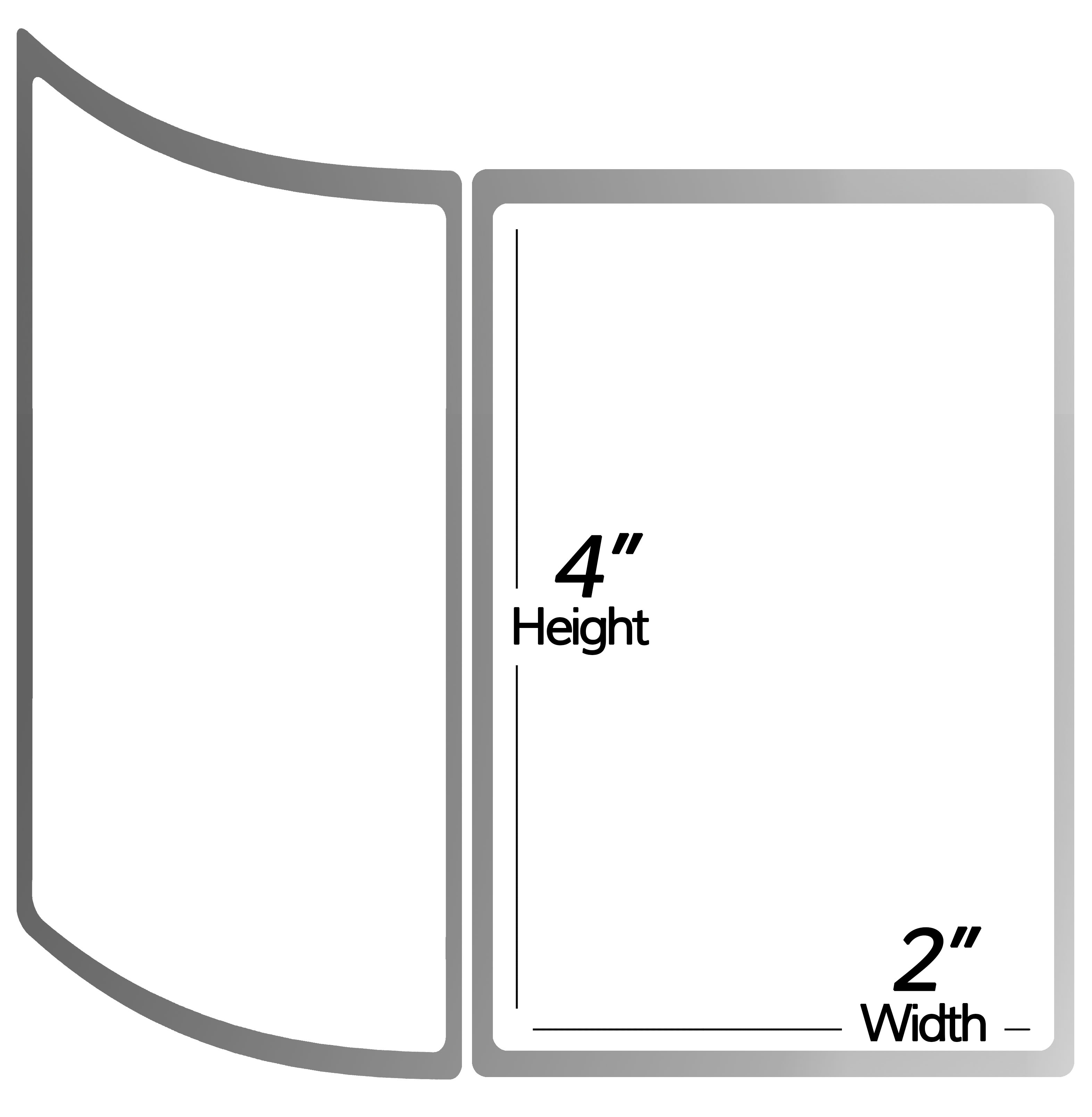 3 Inch Core - 4 x 3 Zebra Compatible Direct Thermal Labels 1 Roll