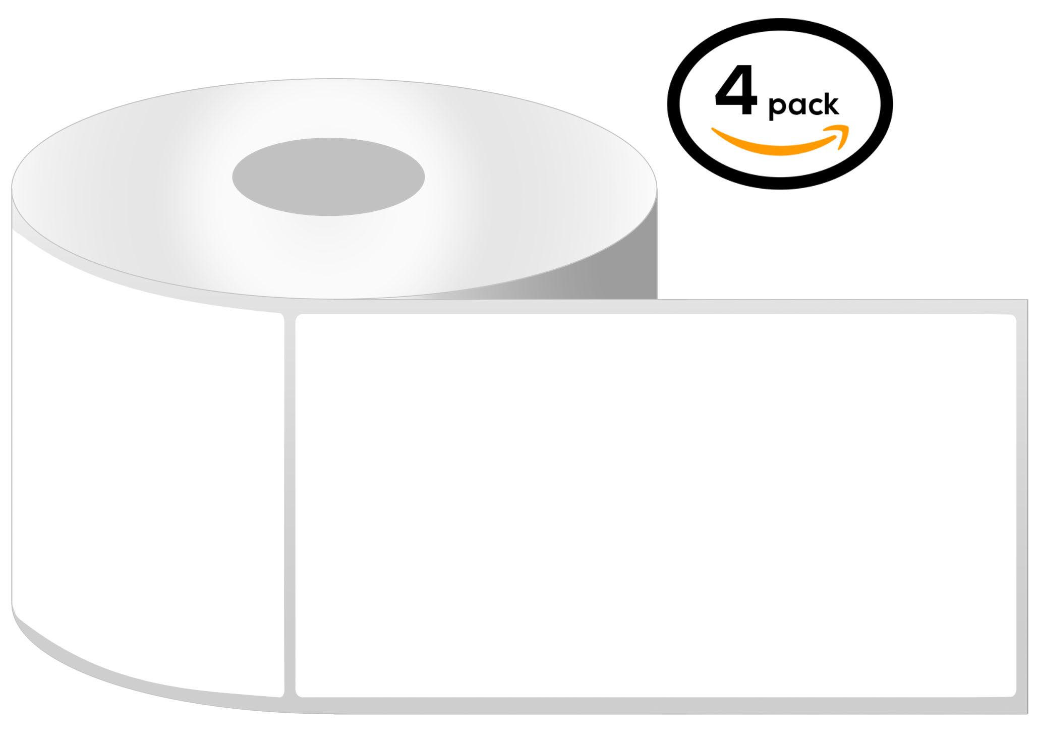 3 Inch Core - 4 x 8 Zebra Compatible Direct Thermal Labels 1 Roll