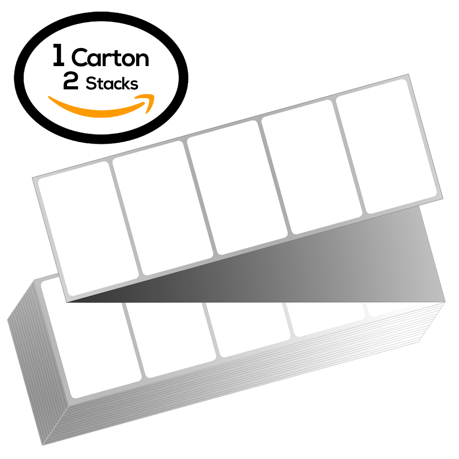 4 x 2 Fanfold Zebra Compatible Direct Thermal Labels (1 Carton)