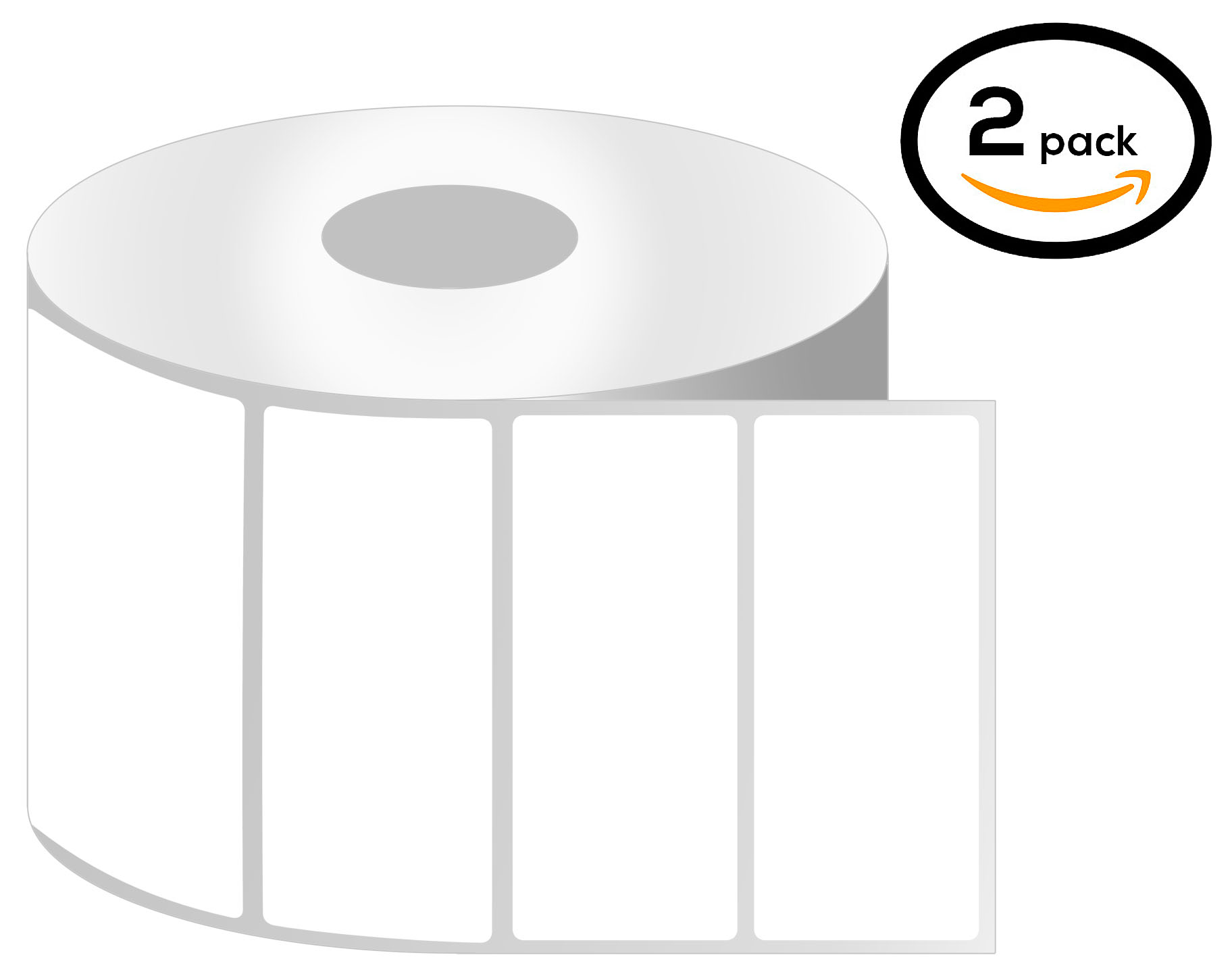 1 Inch Core - 2.5 x 1 Zebra Compatible Direct Thermal Quick Remove REMOVABLE Labels 01 Roll