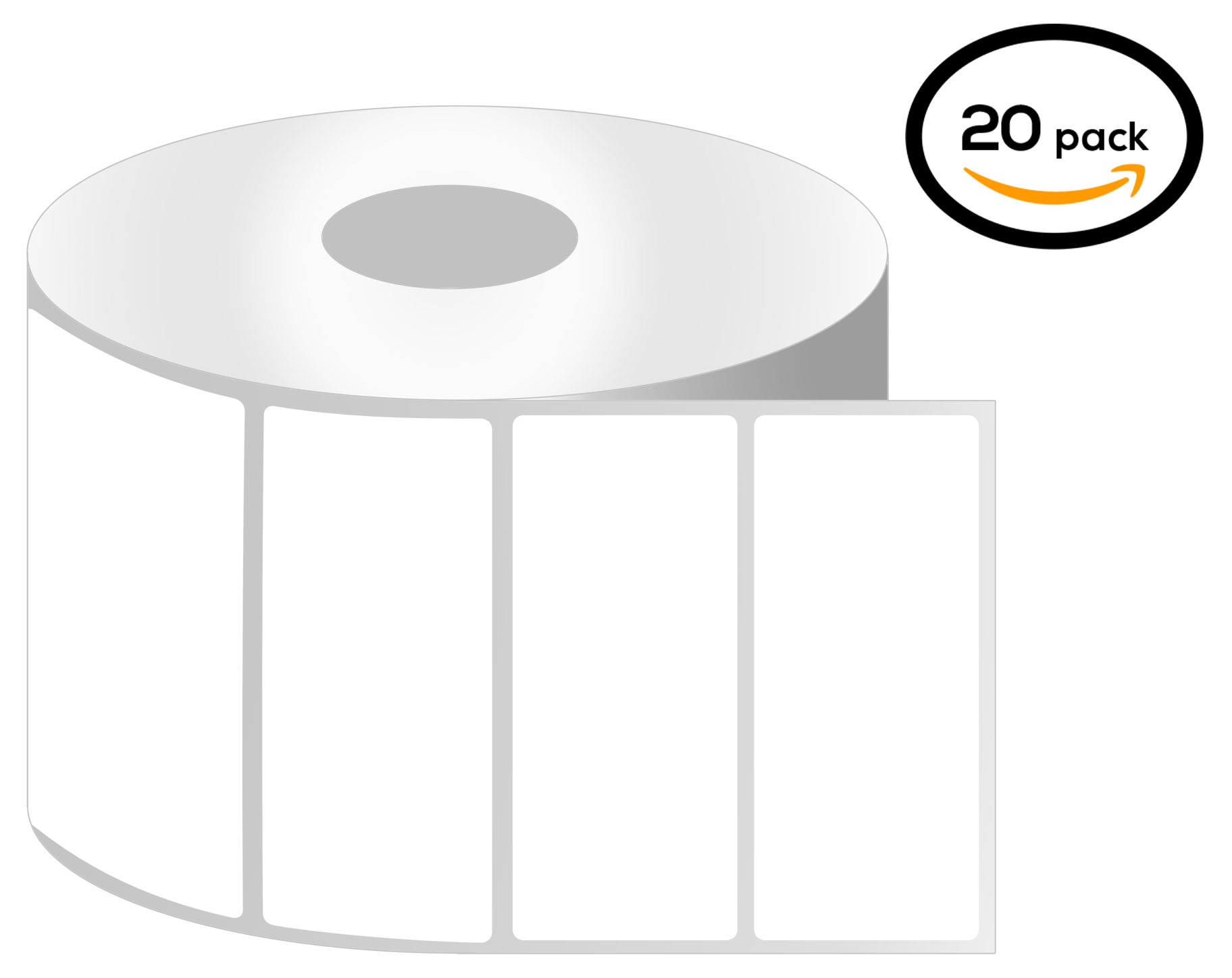 1 Inch Core - 4 x 1 Zebra Compatible Direct Thermal Quick Remove REMOVABLE Labels 01 Roll