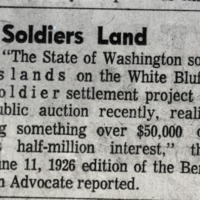 Article on Soldier's Land