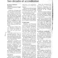 Article on Hanford Environmental Health Foundation accreditation