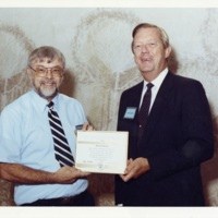 George Kramer receiving award