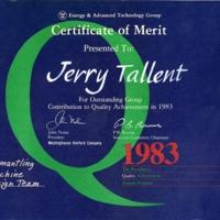 Certificate of Merit<br />