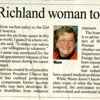 Bush Appoints Richland Woman to Radiation Board