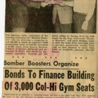 Bomber Boosters Organize- Bonds To Finance Building Of 3,000 Col-Hi Gym Seats-A