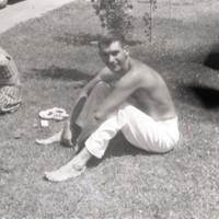 Man seated on the grass<br />