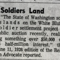&quot;Soldiers Land&quot; article in the newspaper<br />