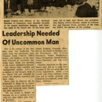 Leadership Needed Of Uncommon Man