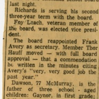 Dawson Heads School Board