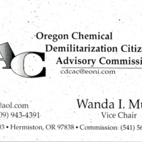 Oregon Chemical Demilitarization Citizens Advisory Commission