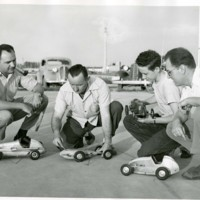 Four people With Model Car<br />