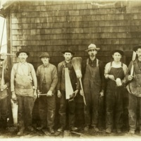 Carpenters at Clear Lake Lumber Company<br />