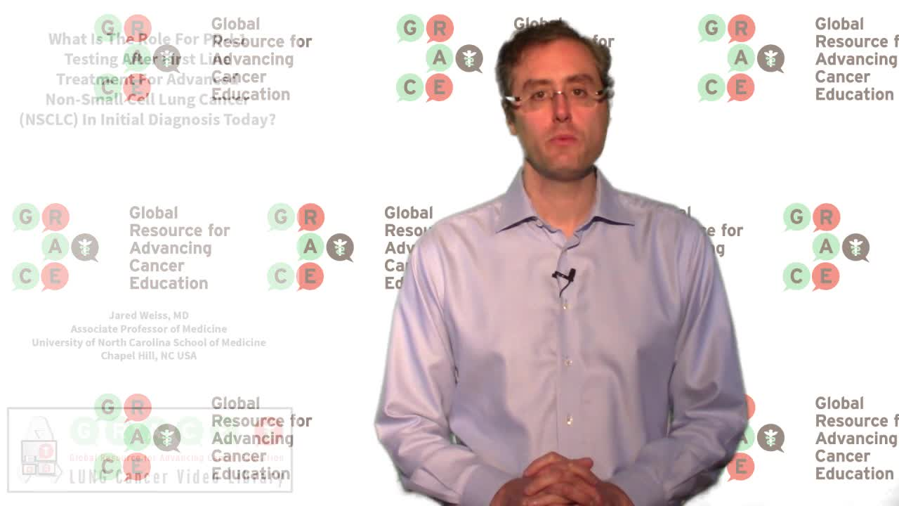 What is the role for PD L1 testing for adv.NSCLC in initial diagnosis [720p]