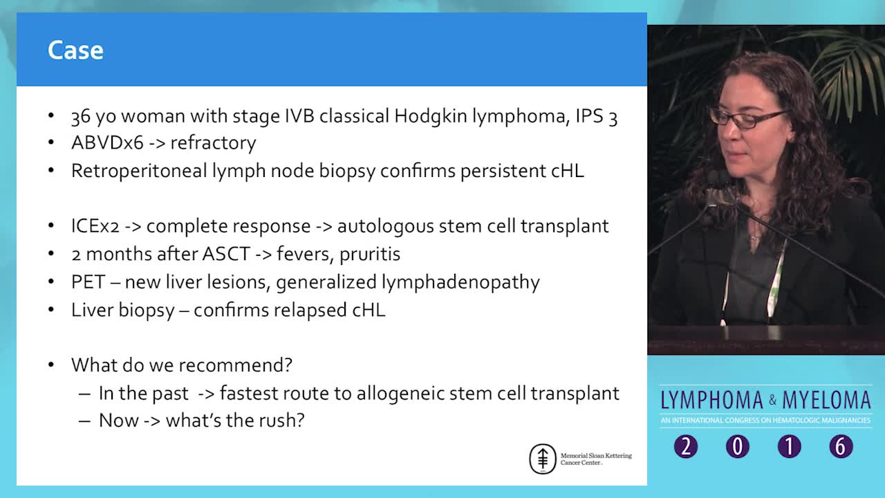 Debate: Hodgkin lymphoma patient who relapses after autologous SCT - Serial novel agents