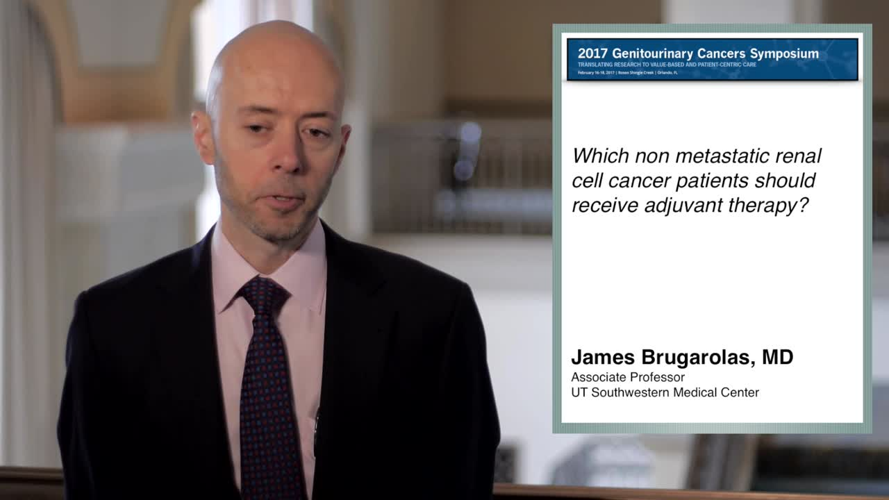 Which non-metastatic renal cell cancer patients should receive adjuvant therapy?