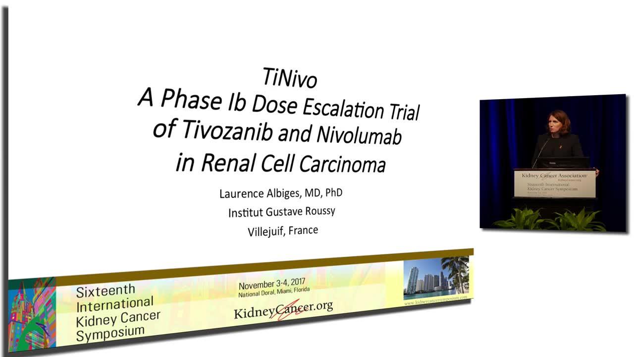 TiNivo A Phase Ib Dose Escalation Trial of Tivozanib and Nivolumab in Renal Cell Carcinoma