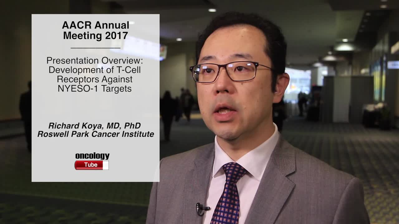 Presentation Overview: Development of T-Cell Receptors Against NYESO-1 Targets