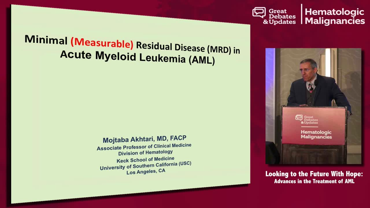 AML Case: A 54-year-old woman is in remission but MRD+