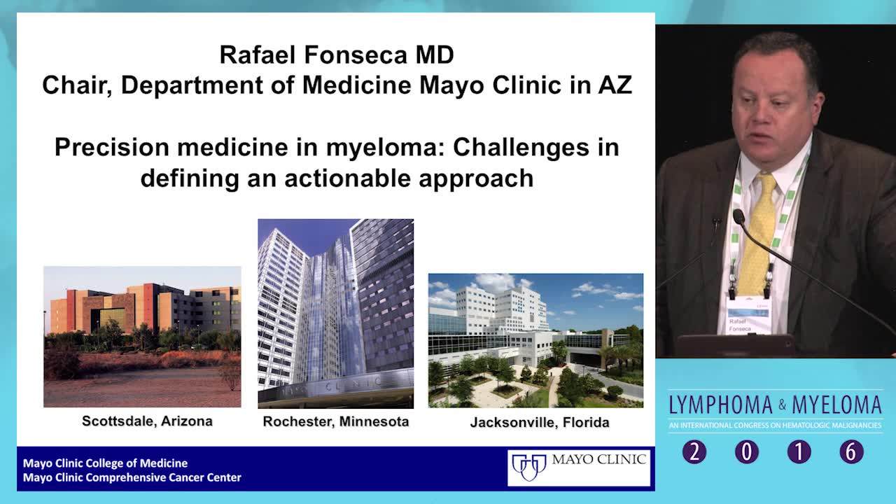 Precision medicine in myeloma: Challenges in defining an actionable approach