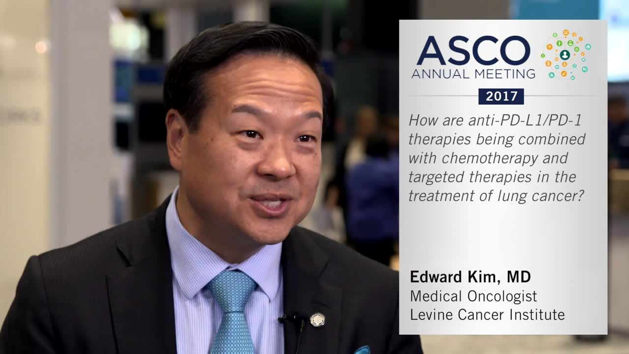 How are anti-PD-L1/PD-1 therapies being combined with chemotherapy and targeted therapies in the treatment of lung cancer?