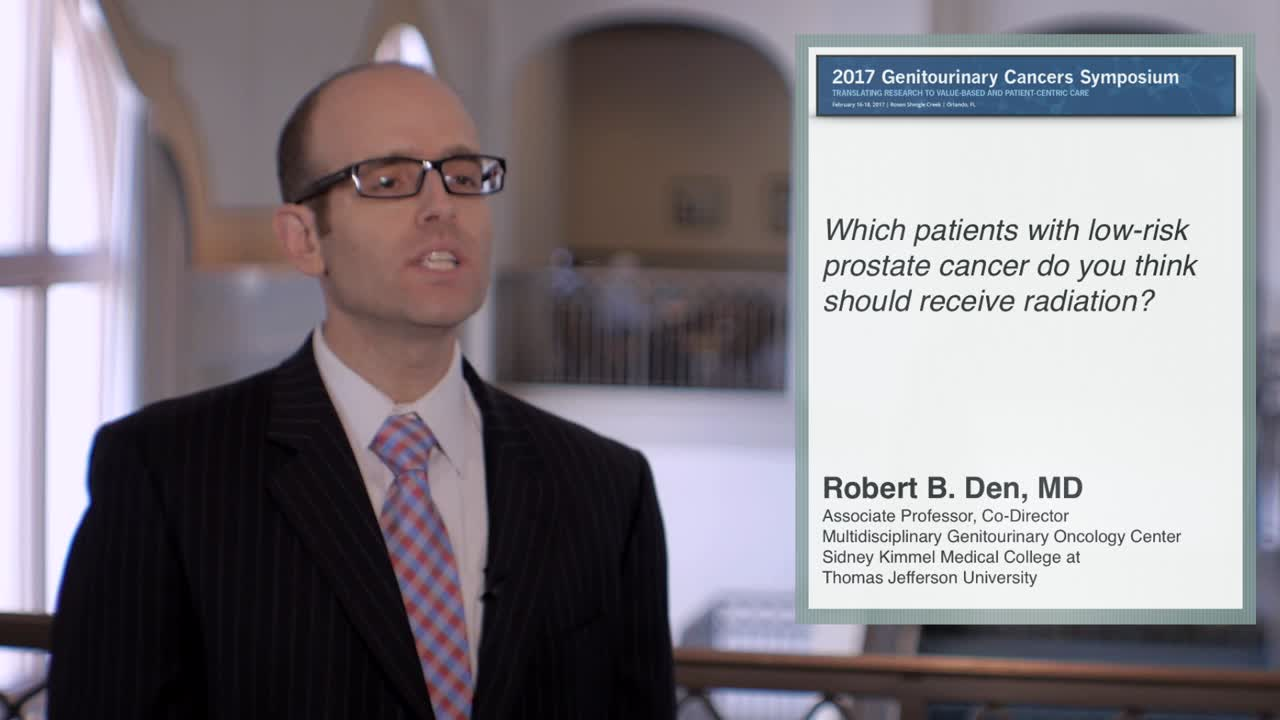 Which Patients With Low-Risk Prostate Cancer Should Receive Radiation
