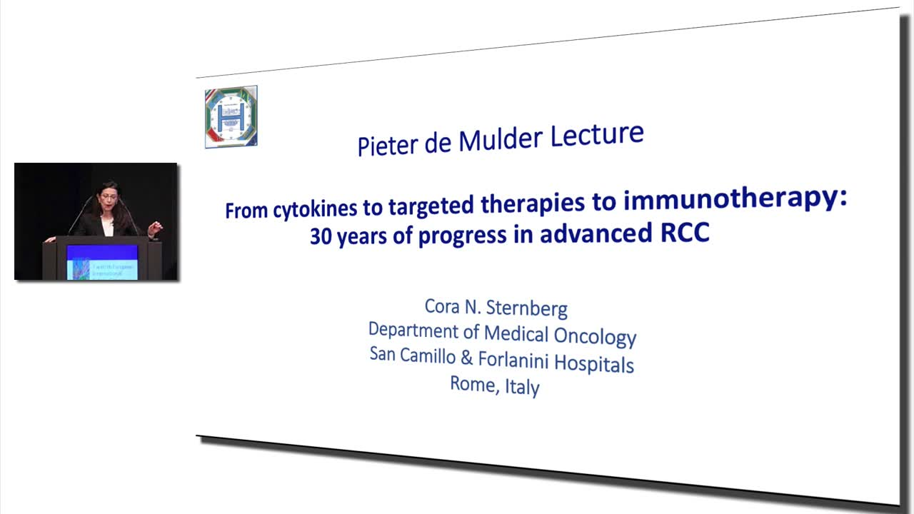 From cytokines to targeted therapies to immunotherapy30 years of progress in advanced RCC - P.H.M. deMulder Lecture by Cora Sternberg, MD 2017 KCA European Meeting