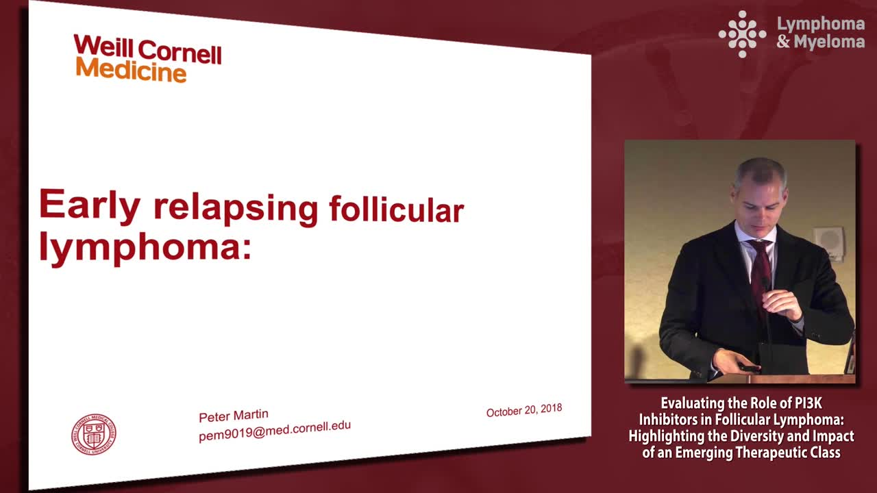How I approach early relapsing follicular lymphoma