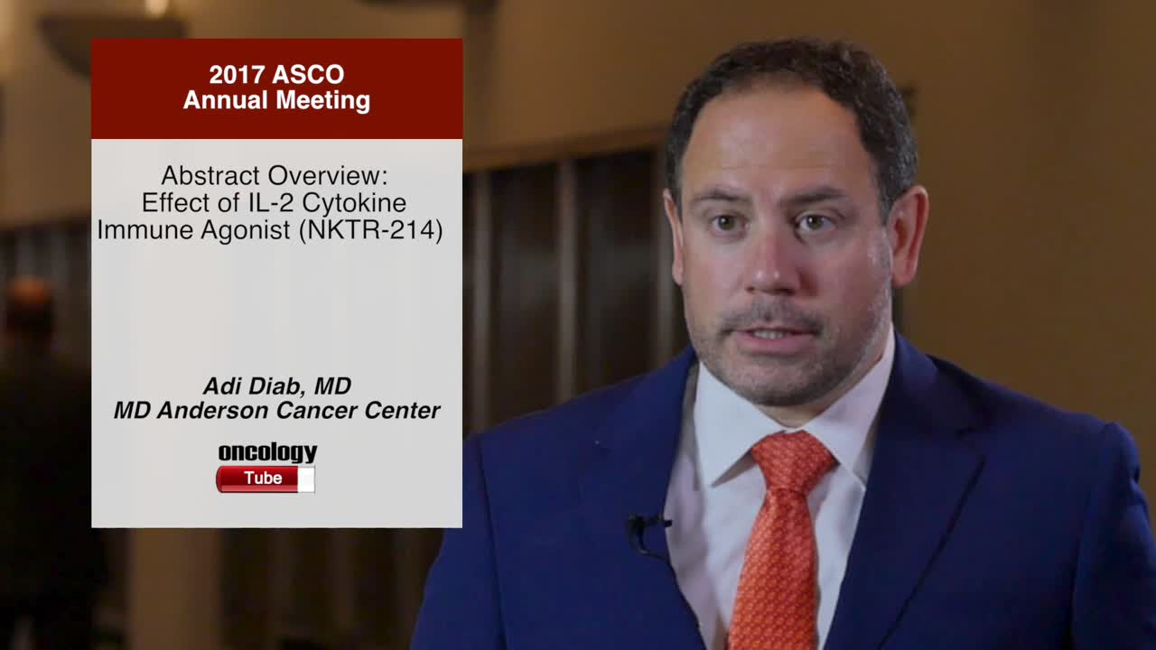 Abstract Overview: Effect of IL-2 Cytokine Immune Agonist (NKTR-214)