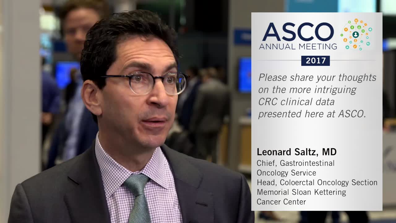 Annual Meeting 2017: Promising data on colorectal cancer
