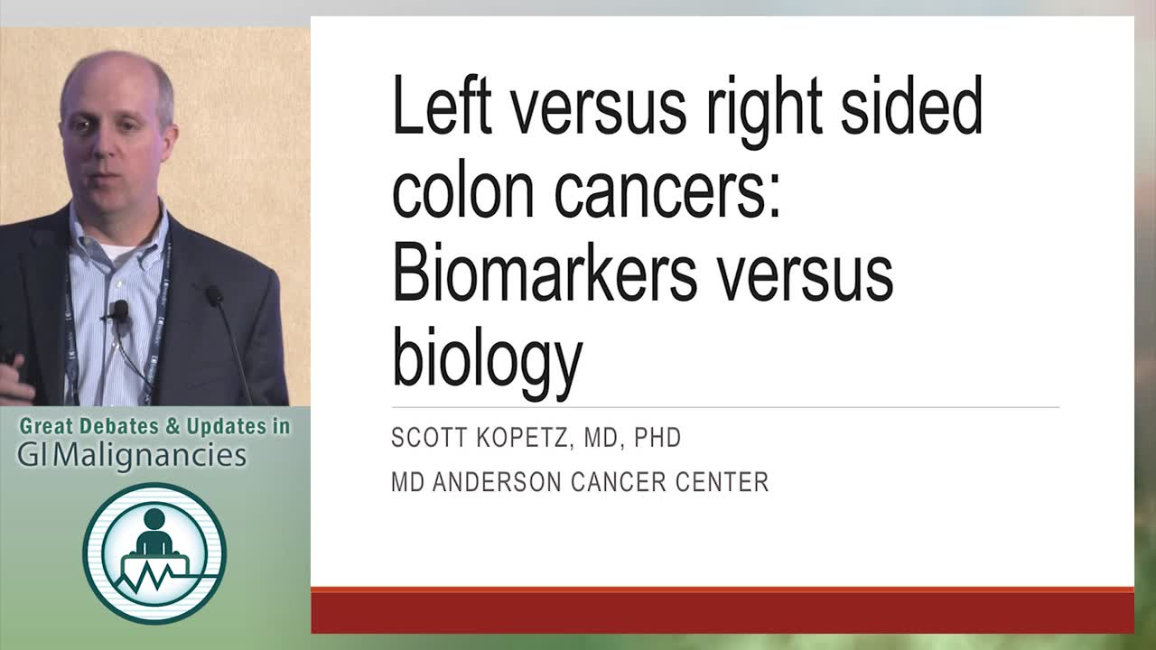 Update: Left versus right sided colon cancers: Biomarkers vs. biology