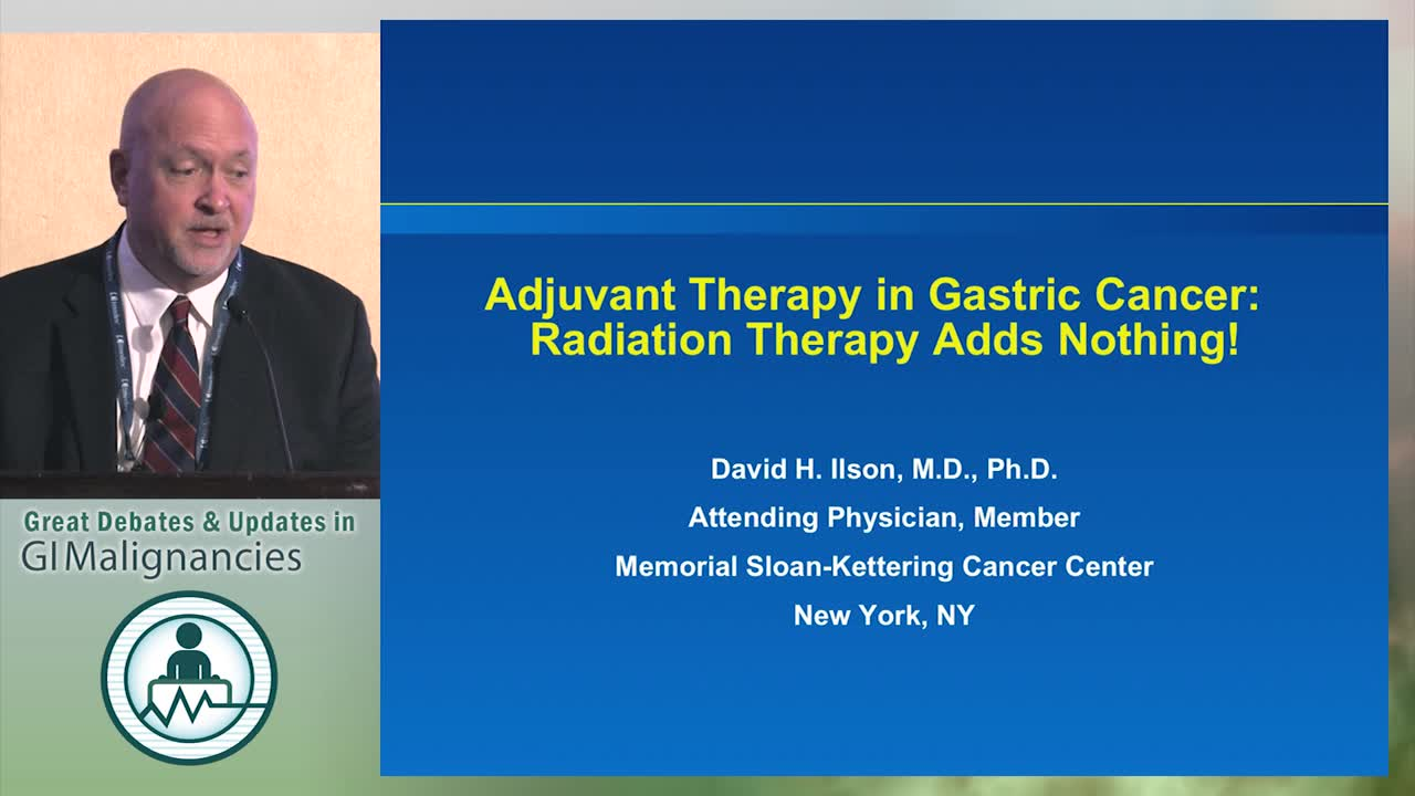 Debate: Does radiation therapy play a role in gastric cancer adjuvant therapy? - No