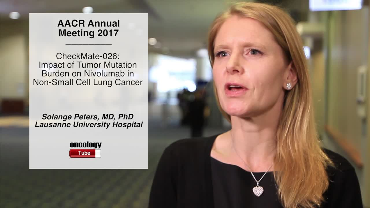 CheckMate-026: Impact of Tumor Mutation Burden on Nivolumab in Non-Small Cell Lung Cancer