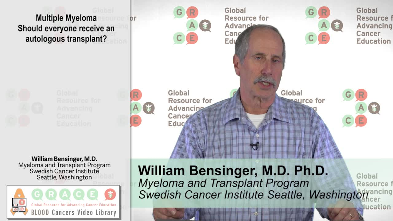 Multiple Myeloma – Should everyone receive an autologous transplant?