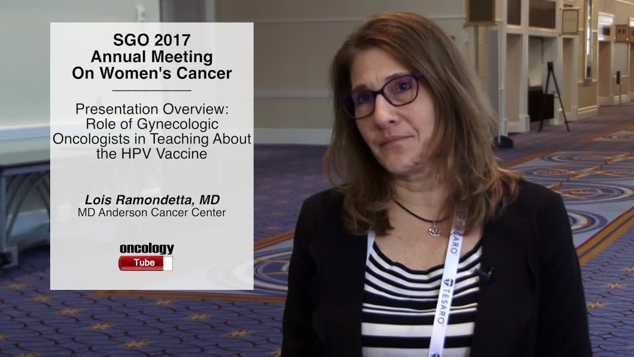 Presentation Overview: Role of Gynecologic Oncologists in Teaching about the HPV Vaccine