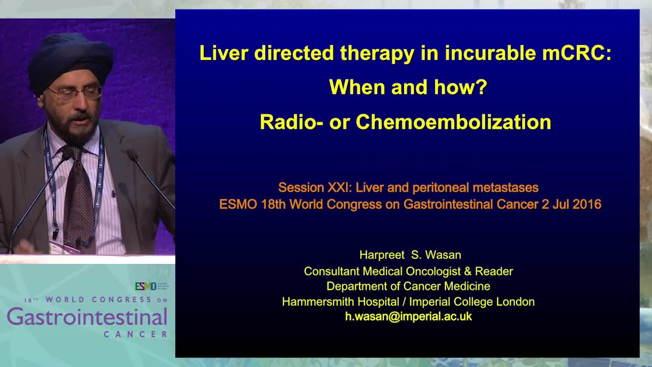 Tandem Talk: Liver directed therapy in incurable mCRC: When and how? - Radio- or chemoembolization