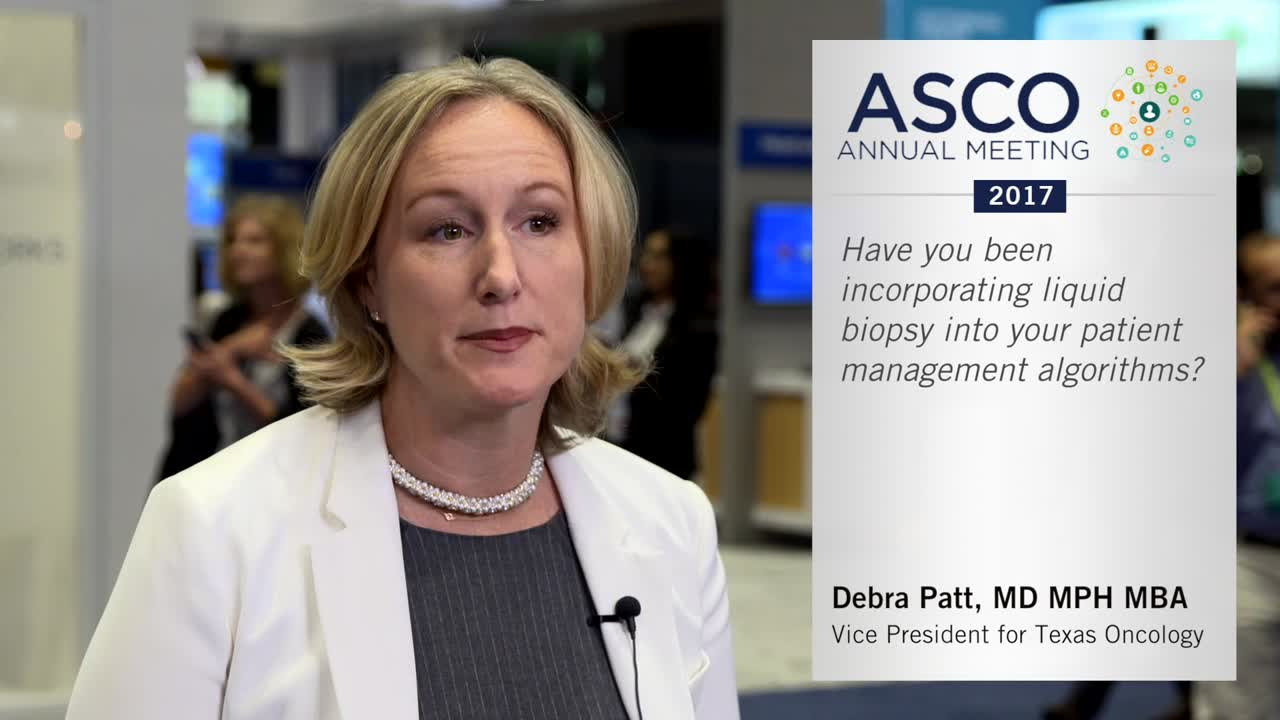 Have you been incorporating liquid biopsy into your patient management algorithims?