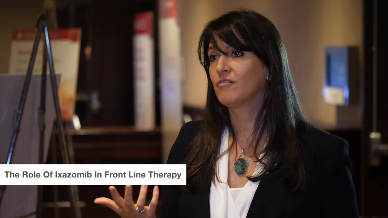 The Role Of Ixazomib In Front Line Therapy