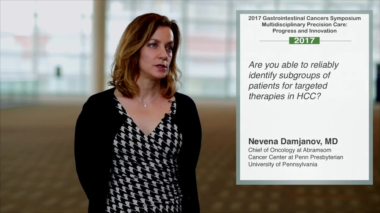 Identifying Subgroups of Patients for Targeted Therapies in HCC