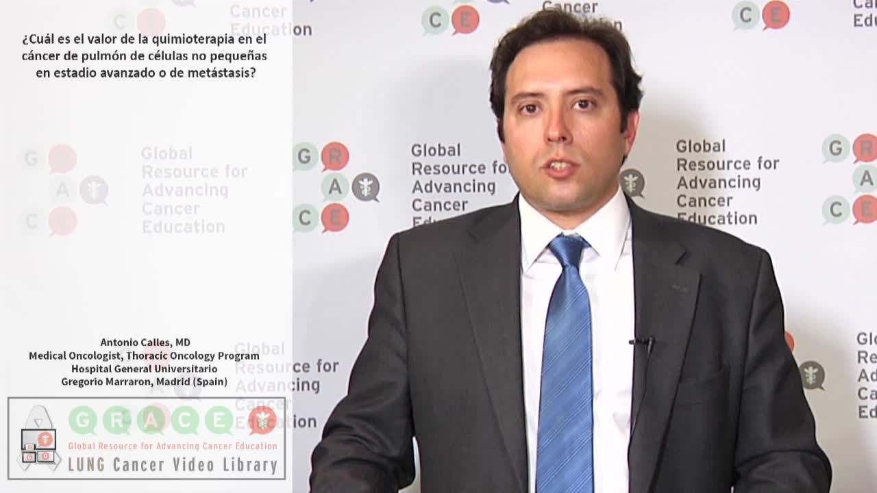 La quimioterapia en el cáncer de pulmón de células no pequeñas en estadio avanzado o de metástasis