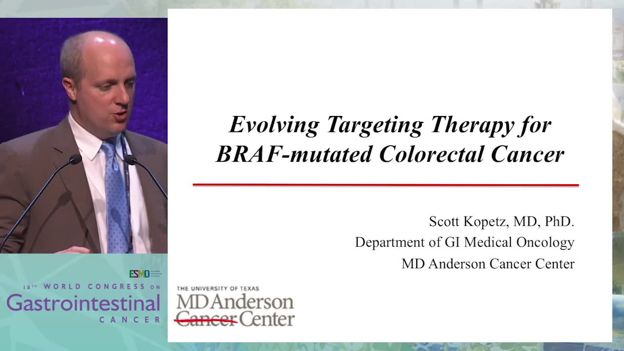 Keynote Lecture 4: The BRAF pathway in CRC?