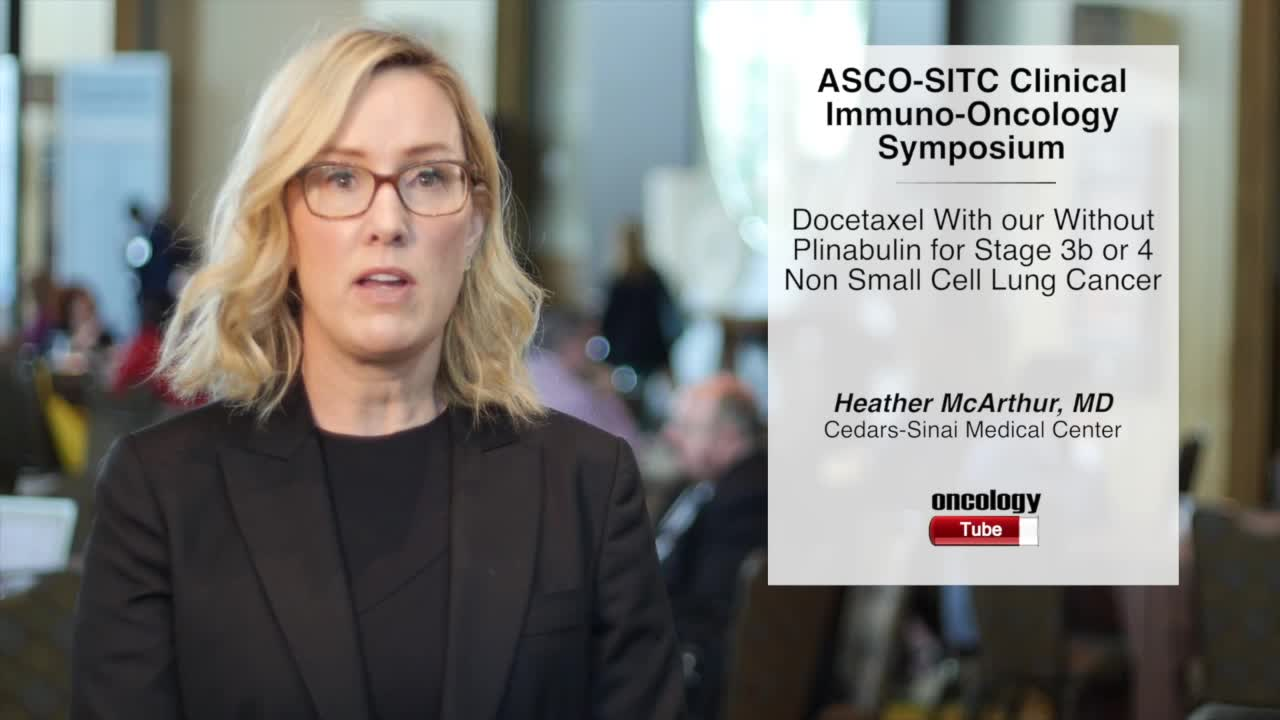 Docetaxel With or Without Plinabulin for Stage 3b or 4 Non-Small Cell Lung Cancer